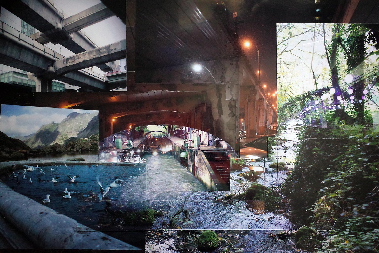 Rivière bétonnée - EmPinsan- Collage
