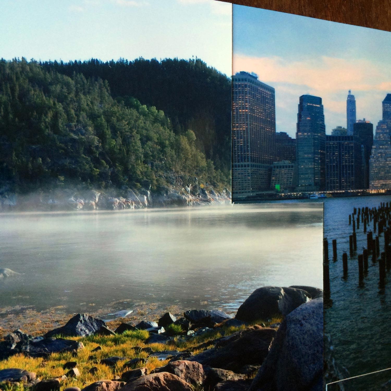 Reflet dans la brume - EmPinsan - collage photo